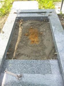 稲谷家墓石施工