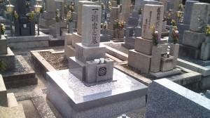 一ノ瀬家墓石移転施工完了