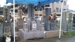 馬場崎家墓石施工完了