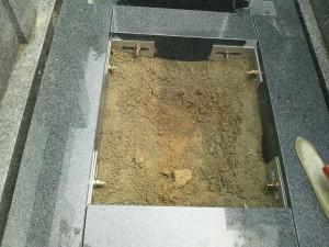益田家墓石施工