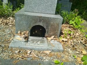 中井家(中本家)墓石撤去